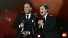 Ant and Dec accept the award for Best Entertainment Presenters during the 2015 National Television Awards at the O2 Arena, London.