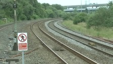 Railway lines near Briton Ferry