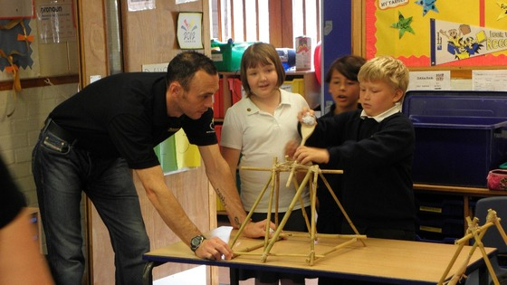 Steve Balliston teaches year 6 pupils