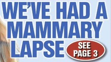 A notice on the front page of The Sun on Thursday