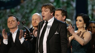 Adam Woodyatt accepts the award for Best Serial Drama for Eastenders