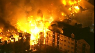 Flames engulf the Avalon apartment complex in New Jersey