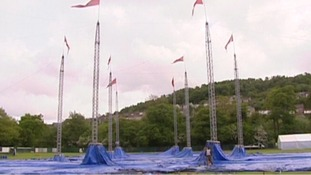 Setting up for festival in 2008