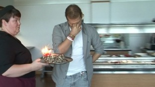 Aston Villa's Stiliyan Petrov was overwhelmed at his birthday celebration today