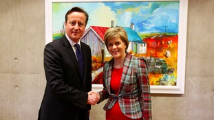 David Cameron was in Scotland today to meet First Minister Nicola Sturgeon.