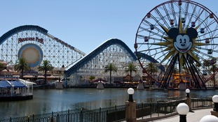 Attractions of Disney California adventure park in Anaheim, United States