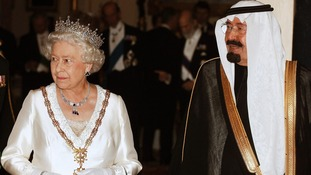 Queen Elizabeth with King Abdullah