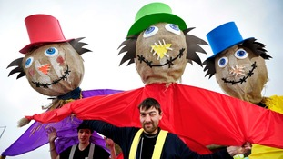 Interactive puppets and floats will drift through the town.