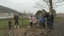Pupils at Langlee Primary School in Galashiels spend the day birdwatching.