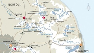 The northern part of the Broads National Park.