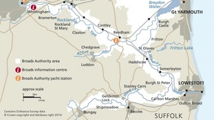The southern part of the Broads National Park.