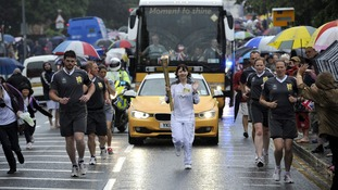 Olympic torch in Colchester