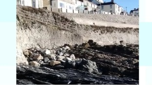 Porthleven beach without sand
