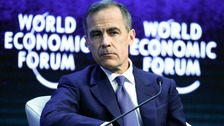 The inscrutable mark Carney at Davos today.
