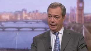 Nigel Farage speaking on the Andrew Marr Show today.
