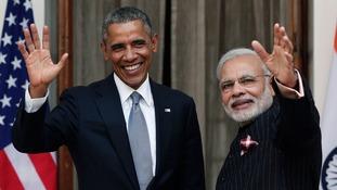 Barack Obama and Indian Prime Minister Narendra Modi.