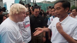 Boris Johnson and Joko Widodo