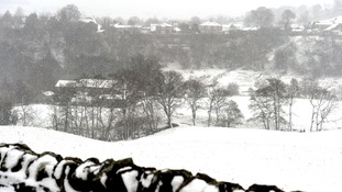 Heavy snow in Allendale, Northumberland