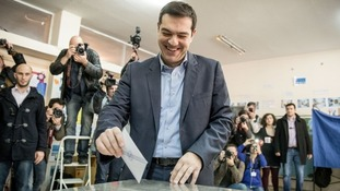 Official projection shows victory for Syriza in Greece