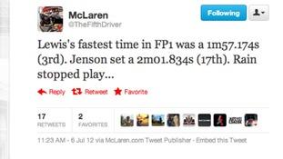 McLaren Tweet