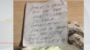 Part of the handwritten note