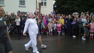 Olympic Torch passing through Heybridge, Essex