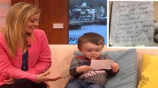 Sammie Welch with her son