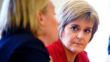 The First Minister will meet with her cabinet in Dumfries today