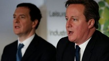 George Osborne and David Cameron are visiting key marginal seats today