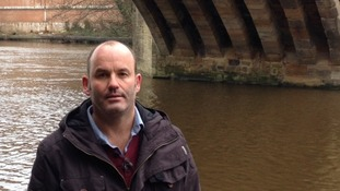 Trevor Bankhead said he discovered a body within seconds of entering the River Wear