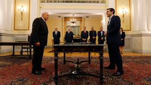Syriza's Alexis Tsipras sworn in as prime minister of Greece
