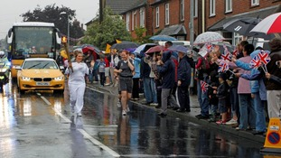 Graham Churchill sent in this picture of the Olympic Torch on Fambridge Road, Maldon, Essex