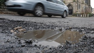 The number of payouts for damage caused by potholes increased last year