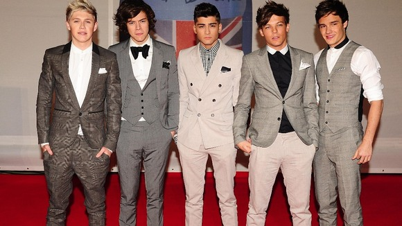 Niall Horan, Harry Styles, Zayn Malik, Louis Tomlinson and Liam Payne of One Direction. 