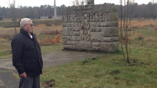 Presenter Natasha Kaplinsky joins Bernard Levy on his return to Bergen-Belsen.
