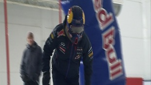 Trust us, that's Daniil Kvyat under the helmet...