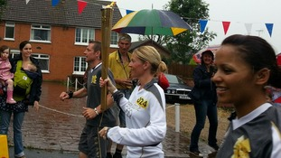 Olympic Torch in Hatfield Peverel, Essex