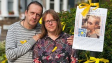 Jose Gross and Rosalind Hodgkiss, the parents of Alice Gross during the appeal to find her last year