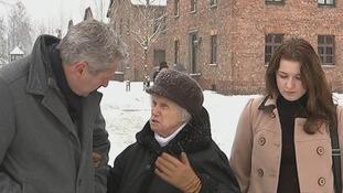 Mark Austin speaks with Auschwitz survivor Alina Dabrowska.