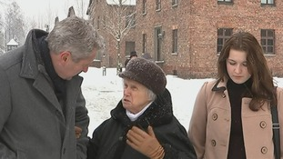Mark Austin speaks with Auschwitz survivor Alina Dabrowska.