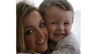 Sammie Welch and her son Rylan