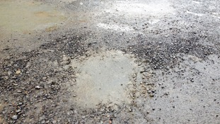 The pothole was filled in by a local business