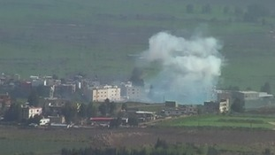 Israel and Lebanon's Hezbollah group have been trading fire around the frontier area.