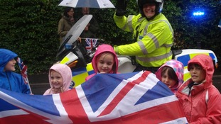 Group of children in Hatfield Peverel, Eseex getting into the Olympic spirit