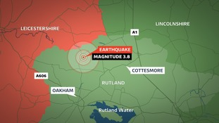 The British Geological Survey has named Cottesmore as the epicentre of tonight's earthquake
