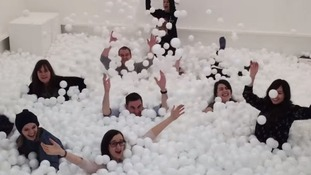 Pit filled with 80,000 balls helps stressed out workers relax