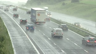 A car stopped on the M1 in South Yorkshire was searched, firearms were found, and seven people then arrested.