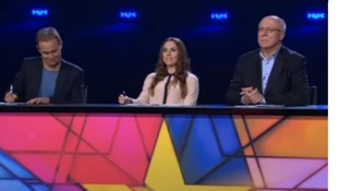 Jason Donovan, Mel C and Lloyd Webber's right-hand man David Grindrod judging contestants on 'Superstar'