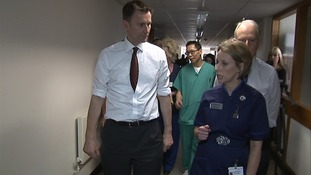 Health Secretary visits 'improving' hospital
