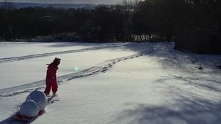 5 year old Lilia in Middeton-in-Teesdale